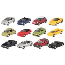 goki Autos aus Spritzguss mit Rückzugmotor