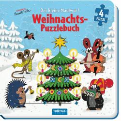 TRÖTSCH Der kleine Maulwurf Puzzlebuch Weihnachten 4 Puzzle mit je 9 Teilen