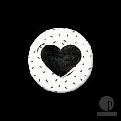 Pickmotion S-Magnet Herz weiß/schwarz