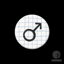 Pickmotion S-Magnet Mann Symbol
