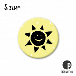 Pickmotion S-Magnet Sonne gelb