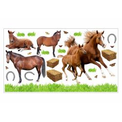 003 Wandtattoo Pferd mit Fohlen