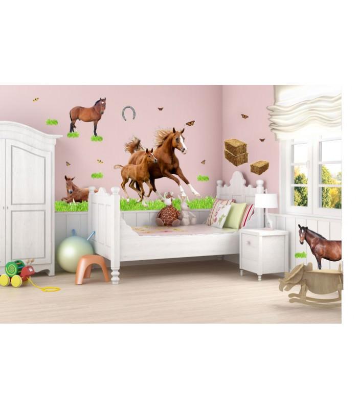 wandtattoo pferd mit reiter reuniecollegenoetsele. Black Bedroom Furniture Sets. Home Design Ideas